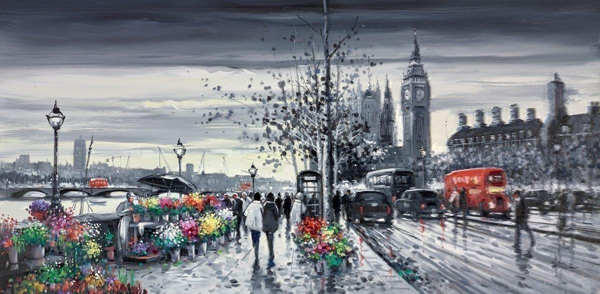 Flower Sellers, Victoria Embankment